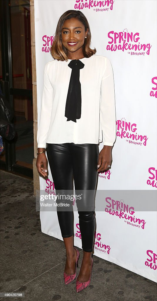 Patina Miller attends the Broadway Opening Night Performance of 'Spring Awakening' at the Brooks Atkinson Theatre on September 27 2015 in New York...
