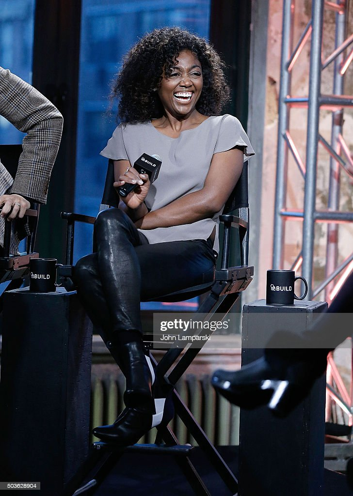 Patina Miller of 'Madam Secretary' attend during the AOL Build speaker series at AOL Studios In New York on January 6 2016 in New York City