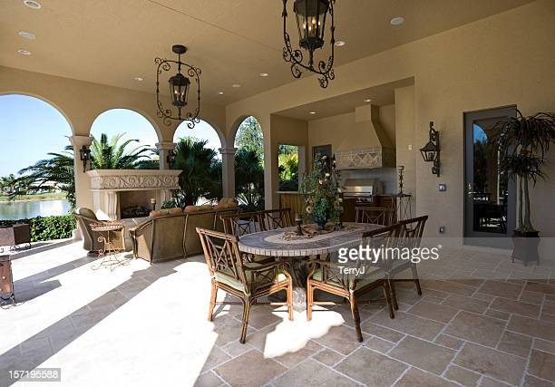 Patio Outdoor Living Area at an Estate Home