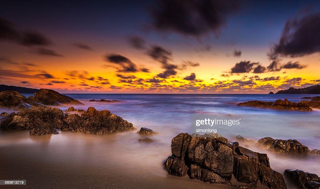 Patong Beach, sunset time scenery