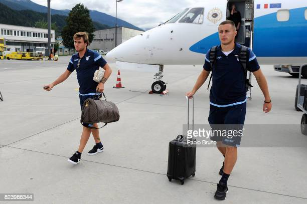 Patric and Adam Marusic of SS Lazio arrive in Austria on July 28 2017 in Innsbruck Austria