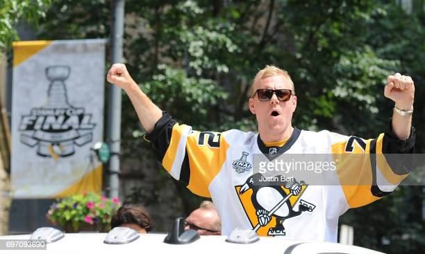 Patric Hornqvist of the Pittsburgh Penguins during the Victory Parade and Rally on June 14 2017 in Pittsburgh Pennsylvania