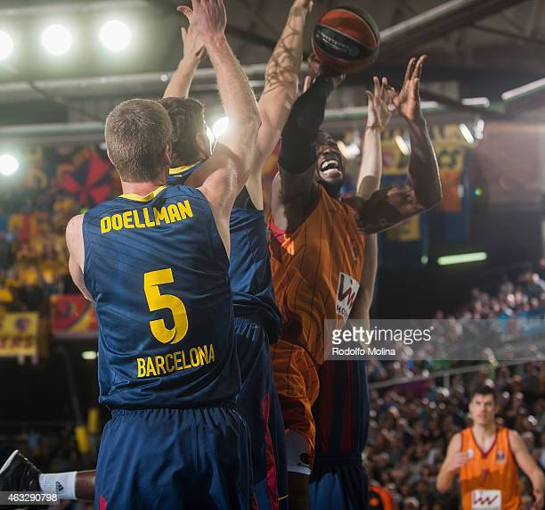 Patric Young #4 of Galatasaray Liv Hospital Istanbul in action during the Turkish Airlines Euroleague Basketball Top 16 Date 7 game between FC...