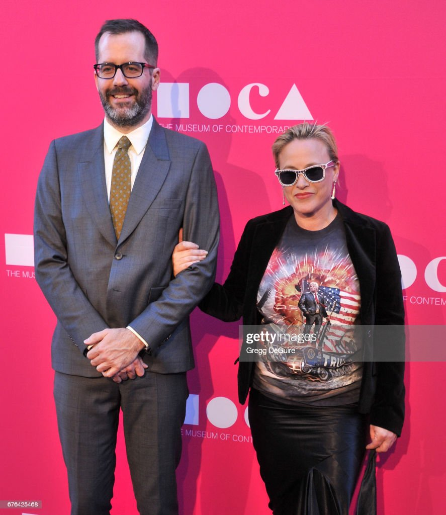 Patrica Arquette and Eric White arrive at the MOCA Gala 2017 at The Geffen Contemporary at MOCA on April 29, 2017 in Los Angeles, California.