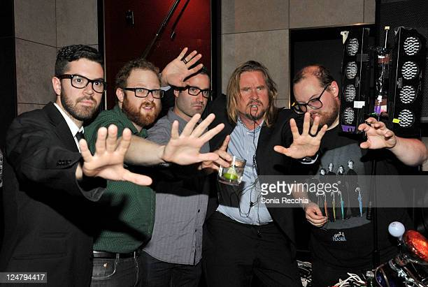 Patricak McCormack Jonathan Dekel Jeff Batcher actor Val Kilmer and composer Dan Deacon attend the 'Twixt' After Party at Thompson Hotel during the...