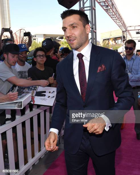 Patrice Bergeron of the Boston Bruins attends the 2017 NHL Awards at TMobile Arena on June 21 2017 in Las Vegas Nevada