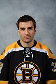 Patrice Bergeron of the Boston Bruins poses for his official headshot for the 20092010 NHL season