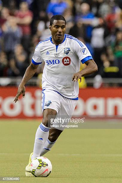 Patrice Bernier of the Montreal Impact moves the ball in the 2nd Leg of the CONCACAF Champions League Final against Club America at Olympic Stadium...