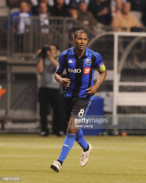 Patrice Bernier of the Montreal Impact runs against the Vancouver Whitecaps during the finals of the Amway Canadian Championship at BC Place on May...