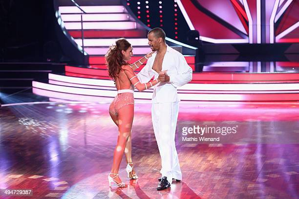 Patrice Bouedibela and Ekaterina Leonova attend the Let's Dance Finals at MMC Studios on May 30 2014 in Cologne Germany