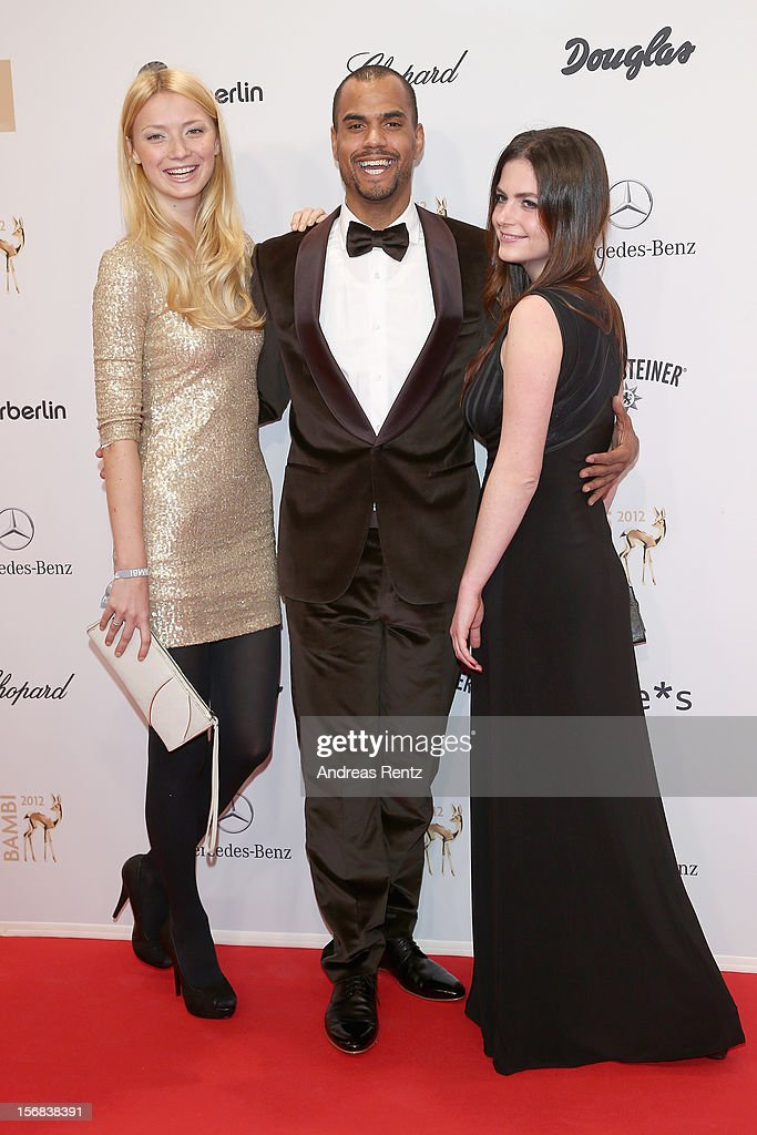 Patrice Bouedibela and Guests attend 'BAMBI Awards 2012' at the Stadthalle Duesseldorf on November 22, 2012 in Duesseldorf, Germany.