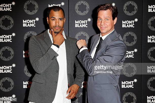 Patrice Bouedibela and Thomas Heinze attends the Montblanc De La Culture Arts Patronage Award 2013 at Hotel De Rome on July 01 2013 in MUNICH Germany