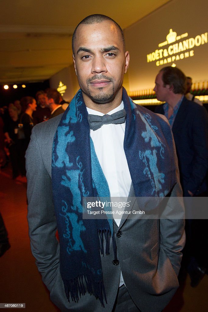Patrice Bouedibela attends the Moet & Chandon Grand Scores at Kaufhaus Jandorf on February 5, 2014 in Berlin, Germany.