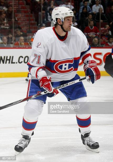 Patrice Brisebois of the Montreal Canadiens skates against the Philadelphia Flyers during the NHL game at the Bell Centre November 15 2008 in...