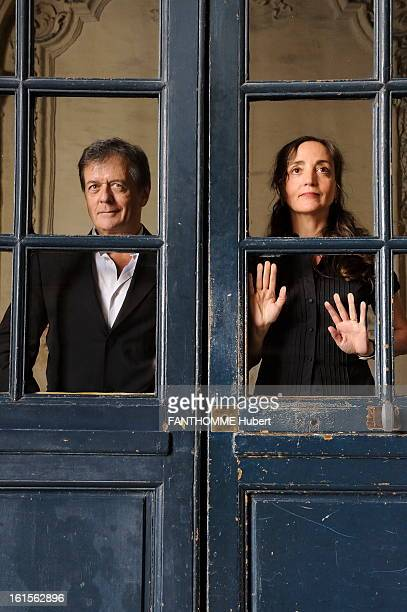 Patrice Chereau And Dominique Blanc At The Theater Dominique WHITE plays 'Pain' by Marguerite Duras Theatre Workshop in PARIS in a staging by Patrice...