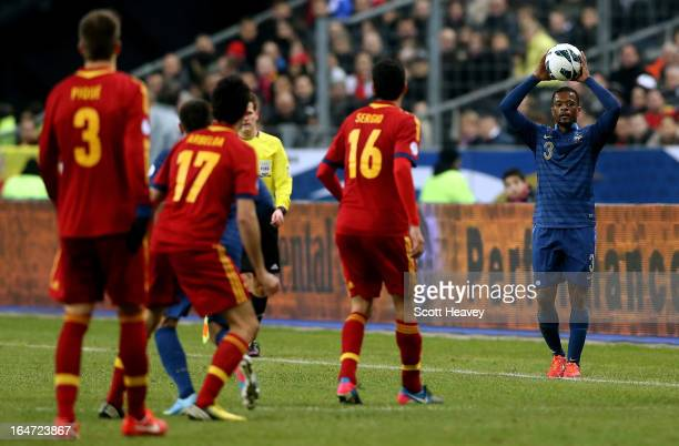 Patrice Evra of France during a FIFA 2014 World Cup Qualifier between France and Spain at Stade de France on March 26 2013 in Paris France
