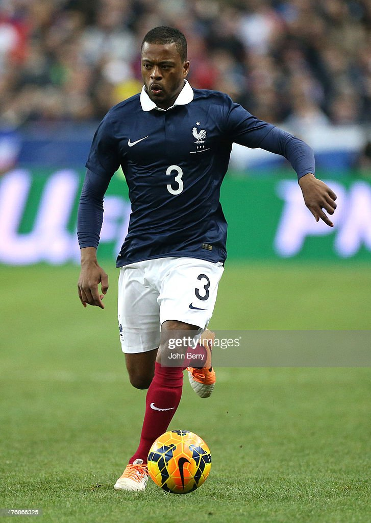 <a gi-track='captionPersonalityLinkClicked' href=/galleries/search?phrase=Patrice+Evra&family=editorial&specificpeople=714865 ng-click='$event.stopPropagation()'>Patrice Evra</a> of France in action during the international friendly match between France and the Netherlands at Stade de France on March 5, 2014 in Saint-Denis near Paris, France.