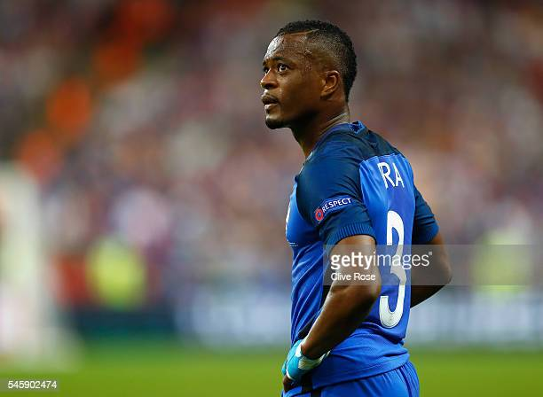 Patrice Evra of France reacts during the UEFA EURO 2016 Final match between Portugal and France at Stade de France on July 10 2016 in Paris France