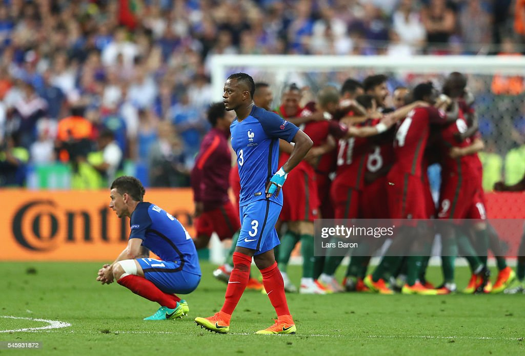 Patrice Evra of France shows his dejection after their 0-1 defeat in the UEFA EURO 2016 Final match between Portugal and France at Stade de France on July 10, 2016 in Paris, France.