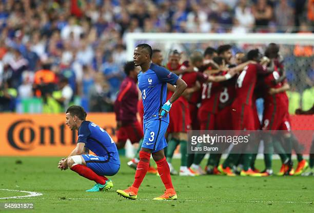 Patrice Evra of France shows his dejection after their 01 defeat in the UEFA EURO 2016 Final match between Portugal and France at Stade de France on...