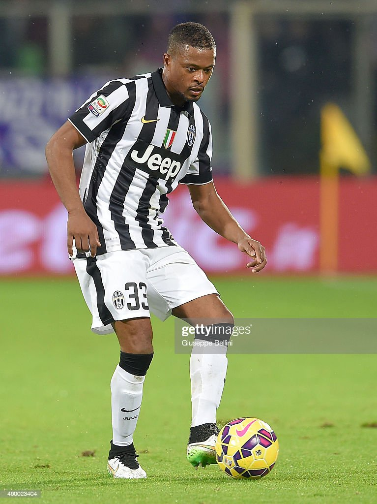 Patrice Evra of Juventus FC in action during the Serie A match between ACF Fiorentina and Juventus FC at Stadio Artemio Franchi on December 5, 2014 in Florence, Italy.