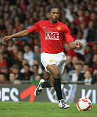 Patrice Evra of Manchester United in action during the preseason friendly match between Manchester United and Juventus at Old Trafford on August 6...