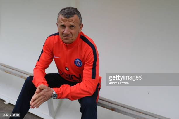 Patrice Lair coach of PSG during the women's National Cup match between Paris Saint Germain PSG and AS Saint Etienne at Camp des Loges on April 16...