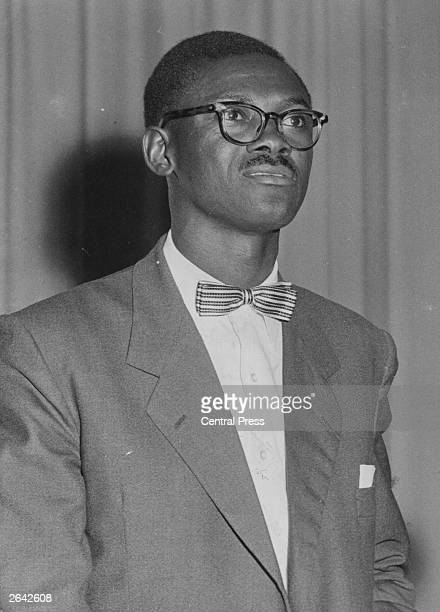 Patrice Lumumba leader of Belgian Congo National Movement and first Prime Minister of the Belgian Congo