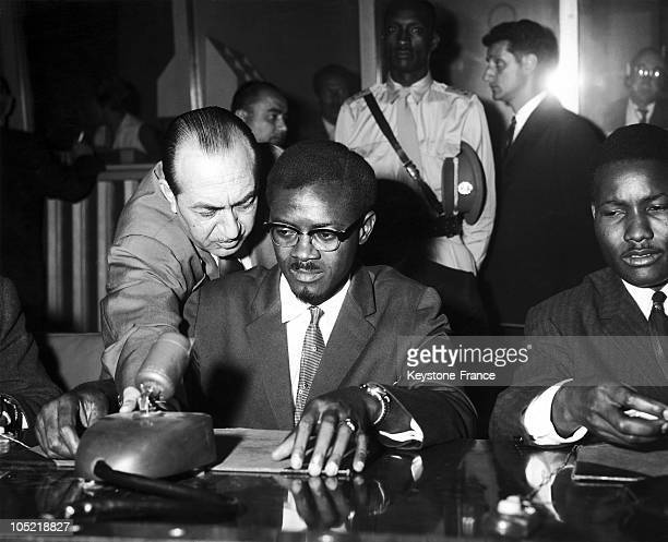 Patrice Lumumba Prime Minister Of The Republic Of Congo At A Press Conference In 1960