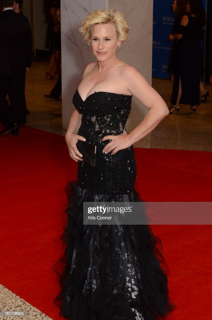 Patricia Arquatte poses on the red carpet during the White House Correspondents' Association Dinner at the Washington Hilton on April 27, 2013 in Washington, DC.