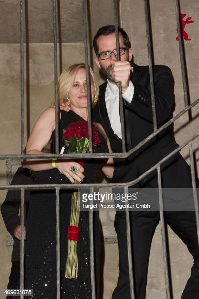 Patricia Arquette and guest attend the closing ceremony after party during 64th Berlinale International Film Festival at Cookies on February 15 2014...