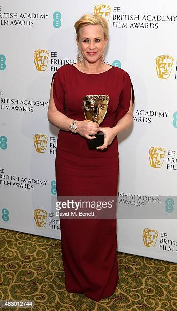 Patricia Arquette attends the after party for the EE British Academy Film Awards at The Grosvenor House Hotel on February 8 2015 in London England