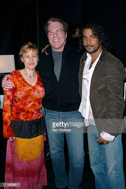 Patricia Arquette Jeff Margolis Naveen Andrews during 12th Annual Screen Actors Guild Awards Rehearsal at Shrine Expo Hall in Los Angeles California...