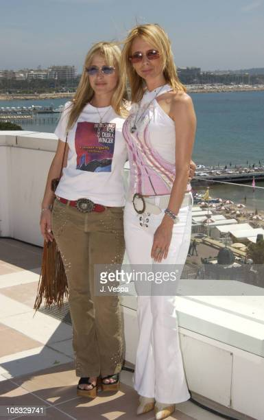 Patricia Arquette Rosanna Arquette during Cannes 2002 'Searching For Debra Winger' Photo Call at The Noga Hilton in Cannes France
