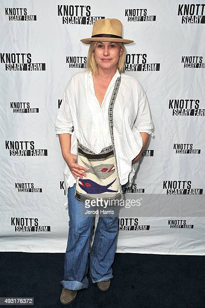 Patricia Arquette visits Knott's Scary Farm at Knott's Berry Farm on October 17 2015 in Buena Park California