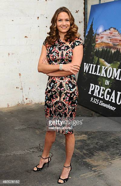 Patricia Aulitzky poses for the film 'Pregau' at Sargfabrik on October 9 2015 in Vienna Austria