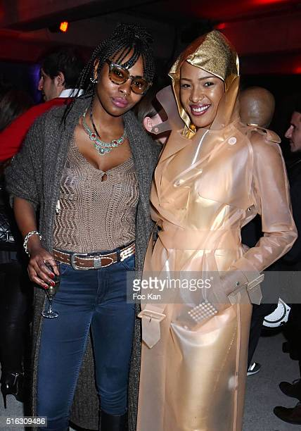 Patricia Badin and Samantha Lanteri attend Charlie Le Mindu Presents 'Charliewood' as Part of Do Disturb at the Palais de Tokyo on March 17 2016 in...