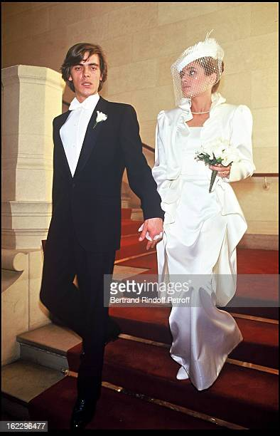 Patricia Belmondo and her husband at their wedding in 1986