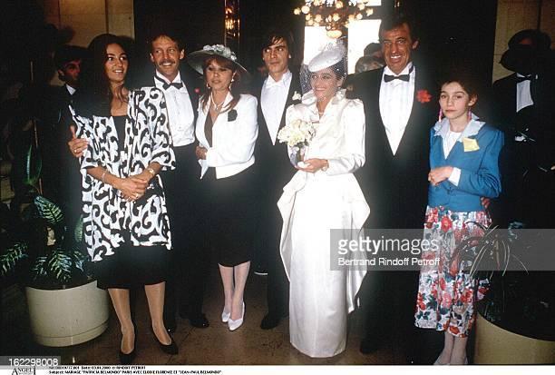 Patricia Belmondo's wedding Paris with Elodie Florence and JeanPaul Belmondo