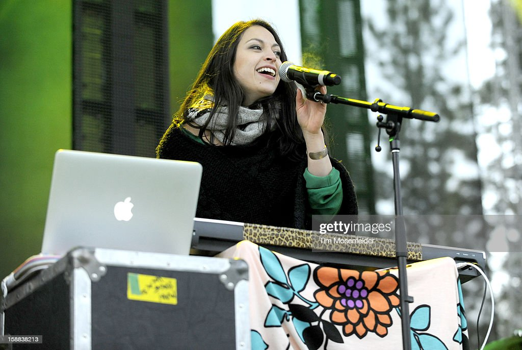 Patricia Beranek of St. Lucia performs during the Snowglobe Music Festival at Lake Tahoe Community College on December 30, 2012 in South Lake Tahoe, CA.