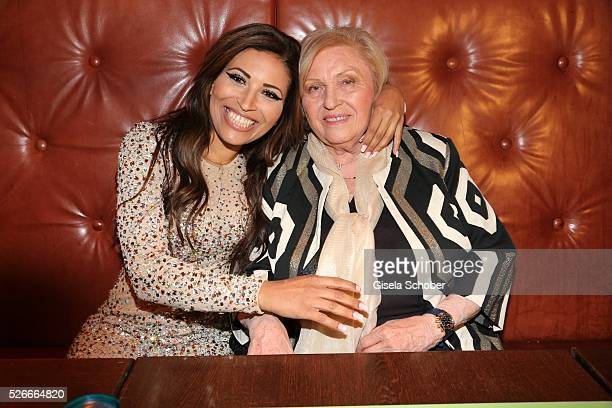 Patricia Blanco and her mother Mireille Blanco former wife of Roberto Blanco during the 11th anniversary 'Highway to Helles' of 'Bachmaier Hofbraeu'...