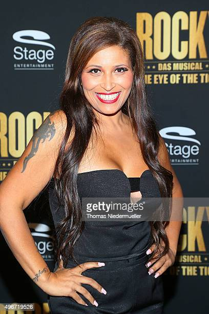 Patricia Blanco attends the black carpet prior to the premiere of the musical 'ROCKY The Musical' at Stage Palladium Theater on November 11 2015 in...