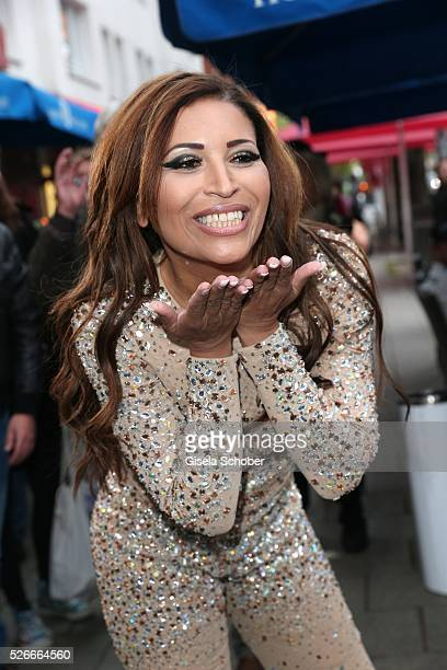 Patricia Blanco during the 11th anniversary 'Highway to Helles' of 'Bachmaier Hofbraeu' in Munich on April 30 2016 in Munich Germany