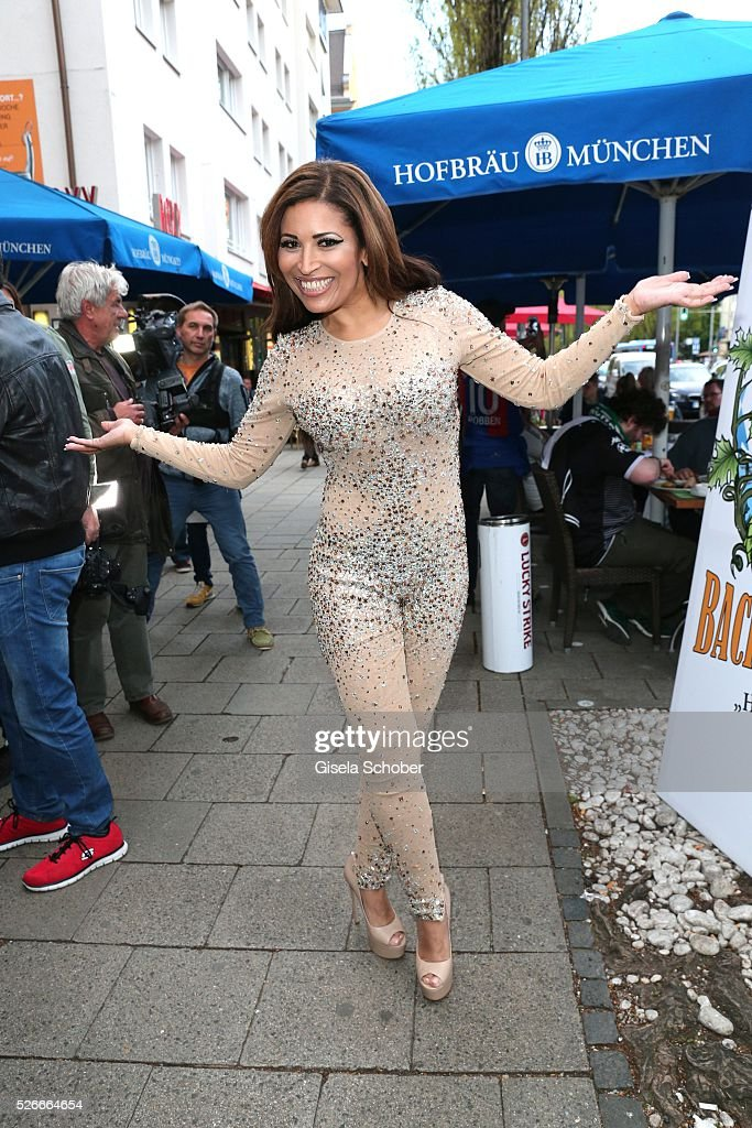 Patricia Blanco during the 11th anniversary 'Highway to Helles' of 'Bachmaier Hofbraeu' in Munich on April 30, 2016 in Munich, Germany.