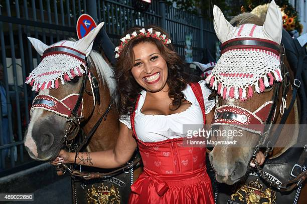 Patricia Blanco during the Hippodrom grand opening ahead of the Oktoberfest 2015 at Postpalast on September 18 2015 in Munich Germany