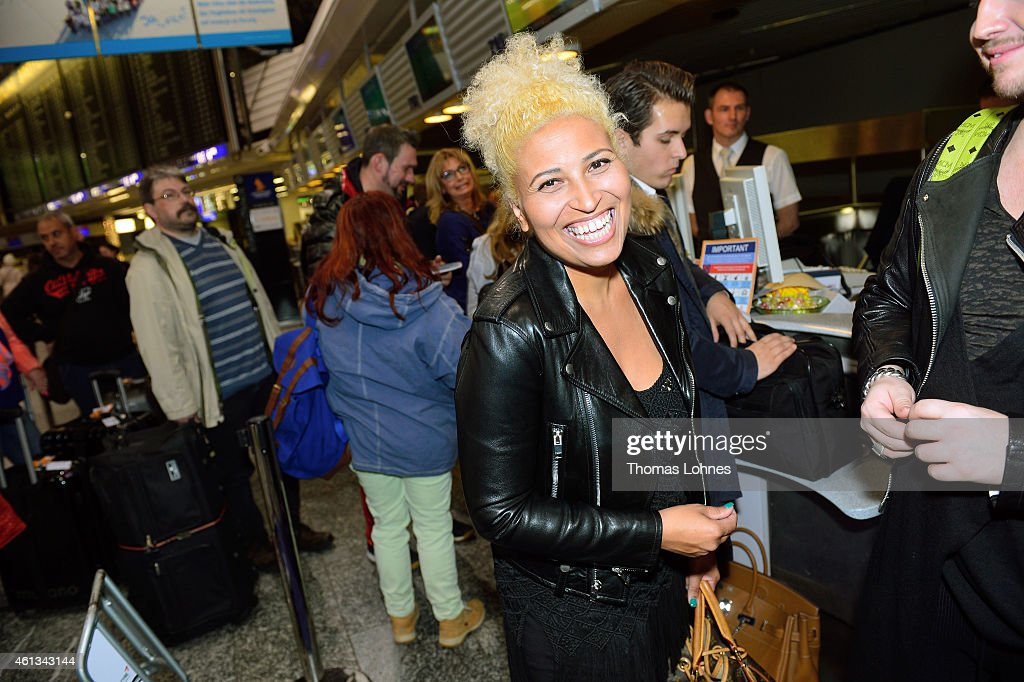 Patricia Blanco pictured before the flight to Australia as a participant in the 2015 RTLTVShow 'Dschungelcamp Ich bin ein Star Holt mich hier raus'...