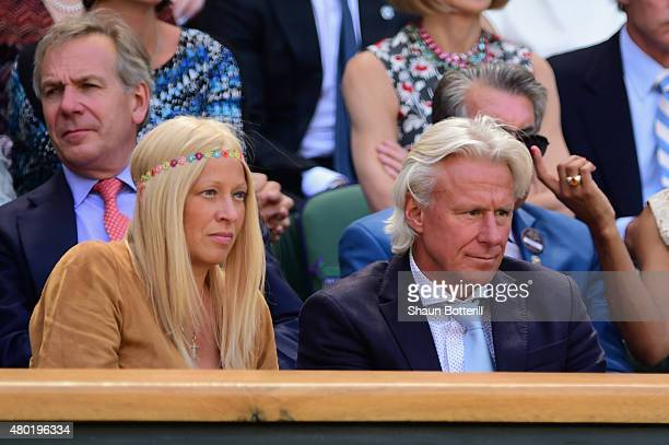 Patricia Borg and Bjorn Borg during day eleven of the Wimbledon Lawn Tennis Championships at the All England Lawn Tennis and Croquet Club on July 10...
