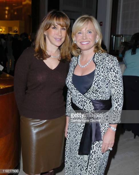 Patricia Burnham and Sharon Bush during Saks Fifth Avenue and Patrick McCarthy of W Magazine Launch New York Debut of Neil Lane at Saks Fifth Avenue...