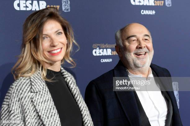 Patricia Campi and Gerard Jugnot arrive at the Cesar Film Awards Ceremony at Salle Pleyel on February 24 2017 in Paris France