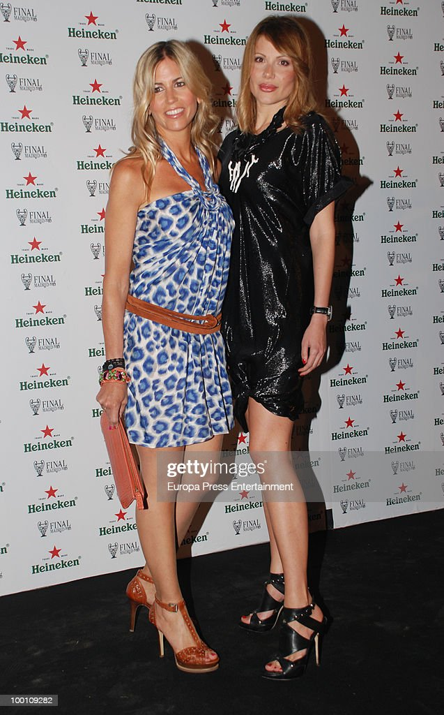 Patricia Cerezo (L) and Anetta Milicevic (R) attend the Heineken Private Party on May 20, 2010 in Madrid, Spain.